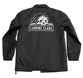 LURKING CLASS(ラーキングクラス)SKETCHY TANK コーチジャケット 裏ボア LC COACH BOA JACKET BLACK スケボー SKATE SK8 スケートボード PUNK パンク HIPHOP ヒップホップ SURF サーフ スノボー スノーボード Snowboard NINJA X