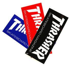 THRASHER MAGZINE(スラッシャー)中判 ステッカー シール Logo Sticker(Med)Black/Red/Blue スケボー SKATE SK8 スケートボード HARD CORE PUNK ハードコア パンク HIPHOP ヒップホップ SURF サーフ レゲエ reggae スノボー スノーボード Snowboard NINJA X