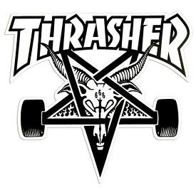 THRASHER MAGZINE (スラッシャー) 大判 ステッカー シール Skategoat Big Board Sticker White スケボー SKATE SK8 スケートボード HARD CORE PUNK ハードコア パンク HIPHOP ヒップホップ SURF サーフ レゲエ reggae スノボー スノーボード Snowboard NINJA X