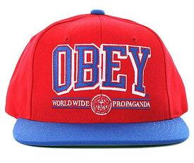 OBEY(オベイ)帽子 キャップ スナップバック Athletics Snap-Back Hat Red×Blue スケボー SKATE SK8 スケートボード HARD CORE PUNK ハードコア パンク HIPHOP ヒップホップ SURF サーフ レゲエ reggae スノボー スノーボード Snowboard NINJA X