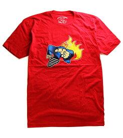 Duck Down Music(ダックダウン)Tシャツ Running Man T-Shirt Red ブーキャン Boot Camp Clik(ブート・キャンプ・クリック) HIPHOP ヒップホップ