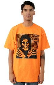 OBEY x Misfitsf(オベイ×ミスフィッツ)Tシャツ Fiend Club T-Shirt Hallow Orange スケボー SKATE SK8 スケートボード HARD CORE PUNK ハードコア パンク HIPHOP ヒップホップ SURF サーフ レゲエ reggae スノボー スノーボード Snowboard NINJA X