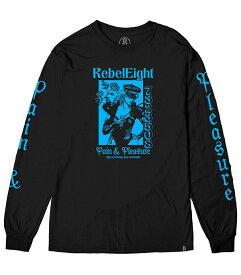 Rebel8(レベルエイト)ロンT ロングTシャツ 長袖 Dominant Longsleeve Tee Black スケボー SKATE SK8 スケートボード HARD CORE PUNK ハードコア パンク HIPHOP ヒップホップ SURF サーフ レゲエ reggae スノボー スノーボード Snowboard NINJA X