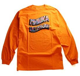 MISHKA(ミシカ)ロンT ロングTシャツ 長袖 HALLELUJAH! Longsleeve Tee Orange スケボー SKATE SK8 スケートボード HARD CORE PUNK ハードコア パンク HIPHOP ヒップホップ SURF サーフ レゲエ reggae スノボー スノーボード Snowboard NINJA X