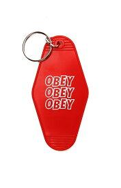 OBEY(オベイ)キーホルダー キーチェーン Jumble Stacks Plastic Keychain Red スケボー SKATE SK8 スケートボード HARD CORE PUNK ハードコア パンク HIPHOP ヒップホップ SURF サーフ レゲエ reggae スノボー スノーボード Snowboard NINJA X