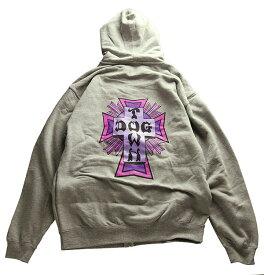 Dogtown(ドッグタウン)パーカー フードジップ Sweatshirt Zip Hooded Cross Logo Purple Heather Grey スケボー SKATE SK8 スケートボード HARD CORE PUNK ハードコア パンク HIPHOP ヒップホップ SURF サーフ レゲエ reggae スノボー スノーボード Snowboard NINJA X
