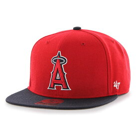 '47 Brand(フォーティーセブン)エンゼルス キッズ 子供 キャップ 帽子 スナップバックハット Angels Sure Shot Two Tone Kids '47 CAPTAIN Red x Navy MLB メジャーリーグ ベースボール 大谷翔平