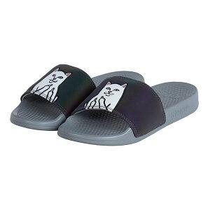 RIPNDIP(リップンディップ)サンダル スリッパ ネコ 猫 Lord Nermal Iridescent Grey Slide Sandals スケボー SKATE SK8 スケートボード HARD CORE PUNK ハードコア パンク HIPHOP ヒップホップ SURF サーフ レゲエ reggae