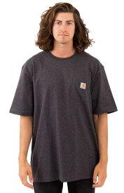 CARHARTT(カーハート)US企画 Tシャツ 半袖 Workwear Pocket T-Shirt Carbon Heather ポケット付き 無地 スケボー SKATE SK8 スケートボード HARD CORE PUNK ハードコア パンク HIPHOP ヒップホップ SURF サーフ レゲエ reggae スノボー スノーボード Snowboard NINJA X