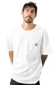 CARHARTT(カーハート)US企画 Tシャツ 半袖 Workwear Pocket T-Shirt White ポケット付き 無地 スケボー SKATE SK8 スケートボード HARD CORE PUNK ハードコア パンク HIPHOP ヒップホップ SURF サーフ レゲエ reggae スノボー スノーボード Snowboard NINJA X