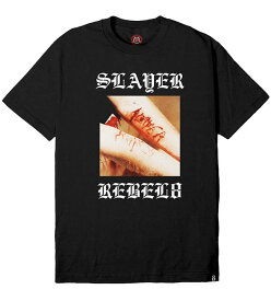 REBEL8 x Slayer(レベルエイト/スレイヤー)Tシャツ Divine Intervention Tee BLACK Thrash Metal スラッシュメタル スケボー SKATE SK8 スケートボード HARD CORE PUNK ハードコア パンク HIPHOP ヒップホップ SURF サーフ レゲエ reggae スノボー