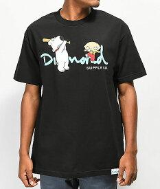 Diamond Supply x Family Guy(ダイヤモンドサプライ/ファミリー・ガイ)Tシャツ OG Script T-Shirt Black スケボー SKATE SK8 スケートボード HARD CORE PUNK ハードコア パンク HIPHOP ヒップホップ SURF サーフ レゲエ reggae スノボー スノーボード Snowboard NINJA X