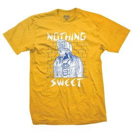 DGK(ディージーケー)Tシャツ Nothing Sweet T-Shirt Gold スケボー SKATE SK8 スケートボード HARD CORE PUNK ハードコア パンク HIPHOP ヒップホップ レゲエ reggae スノボー スノーボード Snowboard