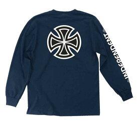 Independent Trucks(インディペンデント)ロンT ロングTシャツ 長袖 Bar/Cross Long Sleeve T-Shirt Navy Blue スケボー SKATE SK8 スケートボード HARD CORE PUNK ハードコア パンク HIPHOP ヒップホップ SURF サーフ レゲエ reggae スノボー スノーボード Snowboard NINJA X