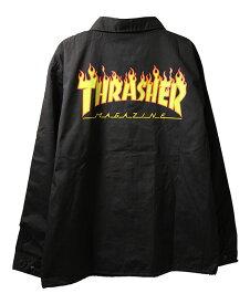 Thrasher Magazine(スラッシャー マガジン)コーチジャケット GOAT FLAME T/C COACH JACKET Black スケボー SKATE SK8 スケートボード HARD CORE PUNK ハードコア パンク HIPHOP ヒップホップ SURF サーフ レゲエ reggae スノボー スノーボード Snowboard NINJA X