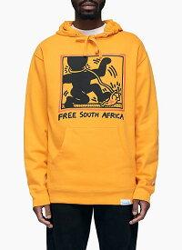 Diamond Supply(ダイヤモンドサプライ)パーカー プルオーバー Diamond x Haring South Africa Hoodie Yellow KEITH HARING(キースヘリング)スケボー SKATE SK8 スケートボード HARD CORE PUNK ハードコア パンク HIPHOP ヒップホップ SURF サーフ レゲエ reggae スノボー