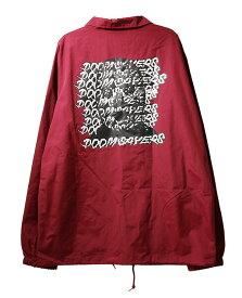 Doom Sayers(ドゥームセイヤーズ)コーチジャケット Ghost Face Windbreaker Coaches Jacket Cardinal Red スケボー SKATE SK8 スケートボード HARD CORE PUNK ハードコア パンク HIPHOP ヒップホップ SURF サーフ レゲエ reggae スノボー スノーボード Snowboard NINJA X