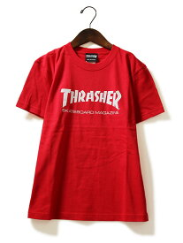 Thrasher(スラッシャー)キッズ Tシャツ 子供 Kids Mag Logo T-Shirt Red JP企画 カジュアル ストリート スケボー SKATE SK8 スケートボード HARD CORE PUNK ハードコア パンク HIPHOP ヒップホップ SURF サーフ レゲエ reggae スノボー スノーボード Snowboard NINJA X