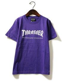 Thrasher(スラッシャー)キッズ Tシャツ 子供 Kids Mag Logo T-Shirt Purple JP企画 カジュアル ストリート スケボー SKATE SK8 スケートボード HARD CORE PUNK ハードコア パンク HIPHOP ヒップホップ SURF サーフ レゲエ reggae スノボー スノーボード Snowboard NINJA X