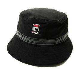 Fila(フィラ)ハット 帽子 STRIPE PRINT BUCKET HAT Black カジュアル ストリート スケボー SKATE SK8 スケートボード PUNK パンク HIPHOP ヒップホップ SURF サーフ スノボー スノーボード Snowboard NINJA X