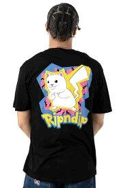RIPNDIP(リップンディップ)Tシャツ Catch Em All T-Shirt Black ピカチュウ カジュアル ストリート ネコ 猫 スケボー SKATE SK8 スケートボード HARD CORE PUNK ハードコア パンク HIPHOP ヒップホップ SURF サーフ レゲエ reggae スノボー スノーボード Snowboard NINJA X