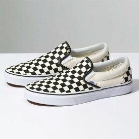 Vans (バンズ) US スリッポン スニーカー シューズ Classic Slip-On Shoe Checkerboard チェッカーフラッグ スケボー SKATE SK8 スケートボード
