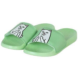 RIPNDIP (リップンディップ) サンダル スリッパ Lord Nermal Mint Slide Sandals LIGHT/PASTEL GREEN ネコ 猫 カジュアル ストリート スケボー SKATE SK8 スケートボード HARD CORE PUNK ハードコア パンク HIPHOP ヒップ