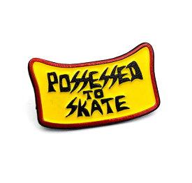 Dogtown (ドッグタウン) ピンバッジ ピンズ Suicidal Enamel Pin Possessed to Skate yellow カジュアル ストリート スケボー SKATE SK8 スケートボード HARD CORE PUNK ハードコア パンク HIPHOP ヒップホップ SURF サーフ レゲエ reggae スノボー スノーボード Snowboard