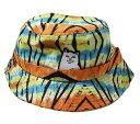 RIPNDIP (リップンディップ) バケットハット 帽子 Lord Nermal Bucket Hat (Sunburst Tie Dye) タイダイ柄 ネコ 猫 カ…