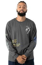 Polar Skate (ポーラー) ロンT ロングTシャツ 長袖 Notebook L/S Shirt Graphite メンズ カジュアル ストリート スケボー SKATE SK8 スケートボード HARD CORE PUNK ハードコア パンク HIPHOP ヒップホップ SURF サーフ レゲエ reggae スノボー スノーボード