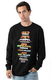 Huf x Godzilla (ハフ) ゴジラ ロンT ロングTシャツ 長袖 Godzilla Versus L/S Shirt Black メンズ カジュアル ストリート スケボー SKATE SK8 スケートボード HARD CORE PUNK ハードコア パンク HIPHOP ヒップホップ SURF サーフ レゲエ reggae スノボー スノーボード