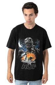 Huf x Godzilla (ハフ) ゴジラ Tシャツ Godzilla Tour T-Shirt Black メンズ カジュアル ストリート スケボー SKATE SK8 スケートボード HARD CORE PUNK ハードコア パンク HIPHOP ヒップホップ SURF サーフ レゲエ reggae スノボー スノーボード Snowboard NINJA X