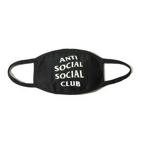 AntiSocialSocialClub (アンチソーシャルソーシャルクラブ) マスク 布マスク フェイスマスク Medical Black Facemask with Logo