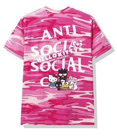 AntiSocialSocialClub (アンチソーシャルソーシャルクラブ) ハローキティ Tシャツ Hello Kitty and Friends x ASSC Pink Camo Tee メンズ カジュアル ストリート スケボー SKATE SK8 スケートボード HARD CORE PUNK ハードコア パンク HIPHOP ヒップホップ