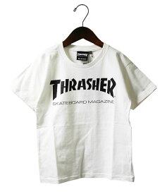 Thrasher (スラッシャー) キッズ Tシャツ 子供 Kids Mag Logo T-Shirt White JP企画 カジュアル ストリート スケボー SKATE SK8 スケートボード HARD CORE PUNK ハードコア パンク HIPHOP ヒップホップ SURF サーフ レゲエ reggae スノボー スノーボード Snowboard NINJA X