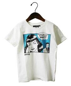 Thrasher (スラッシャー) キッズ 子供 Tシャツ Kids Boyfriend T-Shirt White×Blue カジュアル ストリート スケボー SKATE SK8 スケートボード HARD CORE PUNK ハードコア パンク HIPHOP ヒップホップ SURF サーフ レゲエ reggae スノボー スノーボード Snowboard NINJA X
