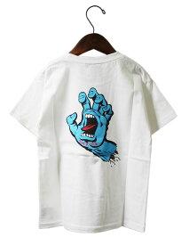 Santa Cruz (サンタクルーズ) キッズ 子供 Tシャツ Screaming Hand Kids White スクリーミングハンド スケボー SKATE SK8 スケートボード HARD CORE PUNK ハードコア パンク HIPHOP ヒップホップ SURF レゲエ reggae スノボー