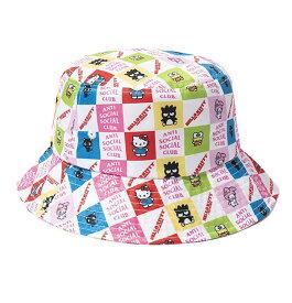 AntiSocialSocialClub (アンチソーシャルソーシャルクラブ) ハローキティ バケットハット ハット Hello Kitty and Friends x ASSC Bucket Cap White/Multi カジュアル ストリート スケボー SKATE SK8 スケートボード HARD CORE PUNK ハードコア パンク HIPHOP