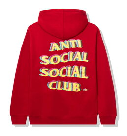 AntiSocialSocialClub (アンチソーシャルソーシャルクラブ) パーカー プルオーバー Stir Crazy Red Hoodie メンズ カジュアル ストリート スケボー SKATE SK8 スケートボード HARD CORE PUNK ハードコア パンク HIPHOP ヒップホップ SURF サーフ レゲエ reggae スノボー