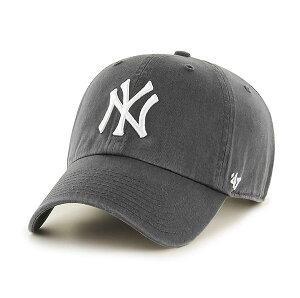 '47 Brand (フォーティーセブン) ヤンキース キャップ Yankees '47 CLEAN UP Charcoal ベースボールキャップ ダッドハット メジャーリーグ