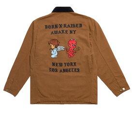 BornxRaised (ボーンアンドレイズド) ジャケット カバーオール BORN X RAISED + AWAKE NY CARHARTT WIP CHORE COAT BROWN