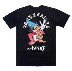 BornxRaised (ボーンアンドレイズド) Tシャツ BORN X RAISED + AWAKE NY FANTASIA TEE BLACK