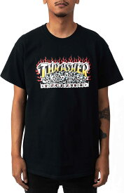 Thrasher (スラッシャー) US Tシャツ Krak Skulls T-Shirt Black スケボー SKATE SK8 スケートボード