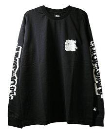 FIRST DOWN (ファーストダウン) ロンT ロングTシャツ 長袖 GRAPHIC L/S T BLACK