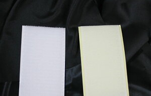 マジックテープ 50mm幅 縫製タイプ1m 白 AB面セット 送料無料 ネコポス速達便 結束バンド 靴 バンド ベルト 財布 スニーカー 地下足袋 強力
