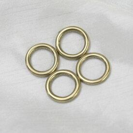 真鍮丸カン15mm(内径・切れ目のないリング)。国産品。