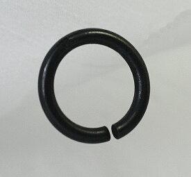 真鍮シングルリング15mm(内径)ダールブラック。国産品。