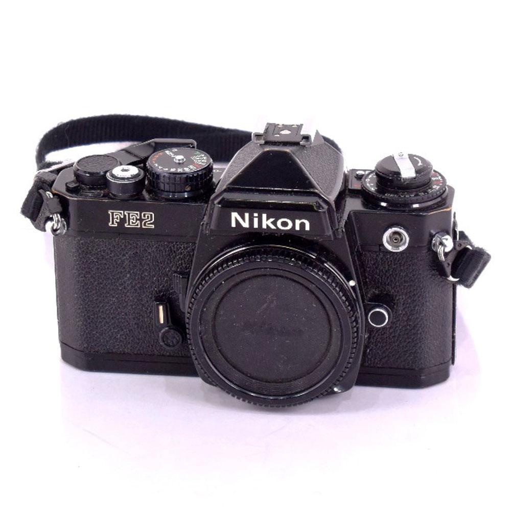 【Nikon】ニコン FE2 ボディ 動作未確認 部品取り・ジャンク ブラック フィルムカメラ【中古】