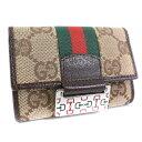 7947b65541c1 Gucci key case 6 146211 GG canvas tea men key case A+ rank