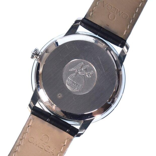 【OMEGA】オメガ デビル コーアクシャル クロノメーター 424.13.40.20.03.002 ステンレススチール シルバー 自動巻き メンズ 青文字盤 腕時計【中古】Aランク